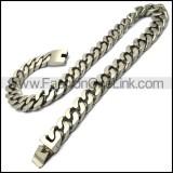 20mm wide matt miami cuban link chain in stainless steel n002206