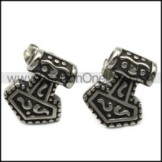 316l stainless steel thor earring e001577