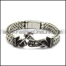 silver chain bracelet motorcycle for outlaw riders b006702