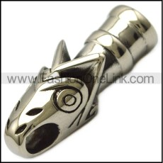 stainless steel viking wolf head end cap a000751