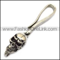 stainless steel skull hook for wallet chain a000601