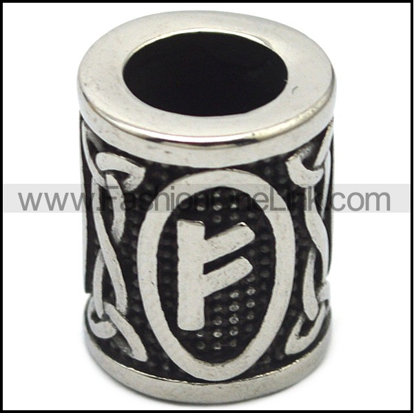 Gorgeous Stainless Steel Runes Beads a000877