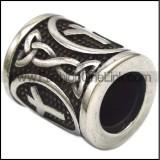 Runes Stainless Steel Beard Beads a000868