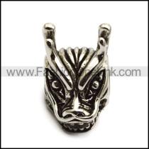 Steel Dragon Head Bead a000529