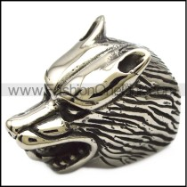 extra bigger wolf head end caps for making 10mm wide bracelet or necklace a000750