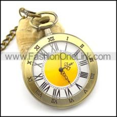 47mm round vintage Roman numerals pocket watch pw000416