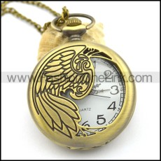 vintage brass feather pocket watches pw000405
