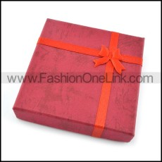 red paper jewellery boxes pa0005