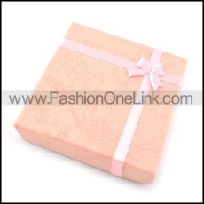 pink square paper jewelry boxes for bracelet pa0006