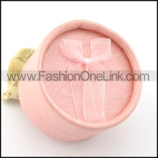 round pink paper jewelry boxes for ring pa0015
