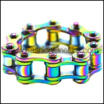 Colorful Stainless Steel Bike Chain Ring for Unisex r007568