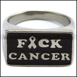 Stainless Steel Fuck Cancer Ring r007585