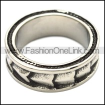 Stainless Steel Classic Ring r000457