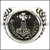 Hot Selling Thor Hammered Ring r001088