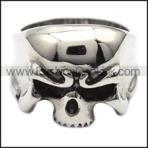 Stainless Steel Wicked Skull Ring r000858