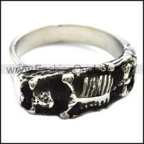 Stainless Steel Human Skeleton Ring r001348