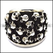 Numerous Small Skulls Ring  r001144
