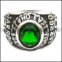 Vintage Stainless Steel Stone Ring   r003247