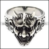 Wicke Stainless Steel Skull Ring  r003044