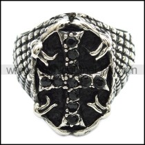Delicate Stainless Steel Casting Ring    r002868