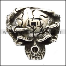 Stainless Steel Skull Ring r003014