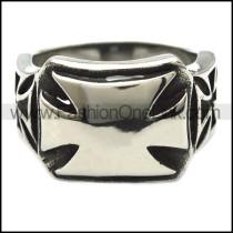 Stainless Steel Cross Ring  r003315