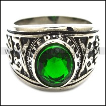 Vintage Stainless Steel Stone Ring   r003245