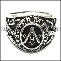 Exquisite Stainless Steel Casting Ring r003146