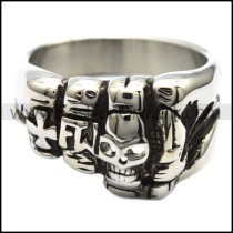 Delicate Skull Ring  r001907