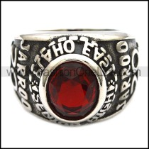 Vintage Stainless Steel Stone Ring   r003246