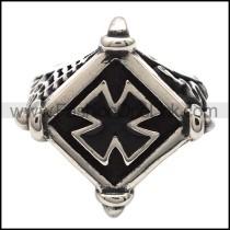 Stainless Steel Cross Ring r003338