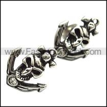 Skull Earrings With Clear Zircon     e001164