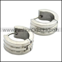 Unique Stainless Steel Cutting Earrings     e000308