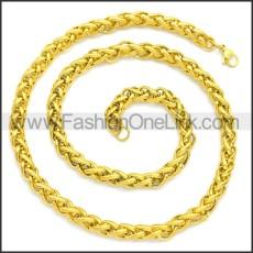 Stainless Steel Chain Neckalce n003084GW5