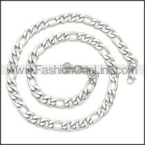 Stainless Steel Chain Neckalce n003087SW3