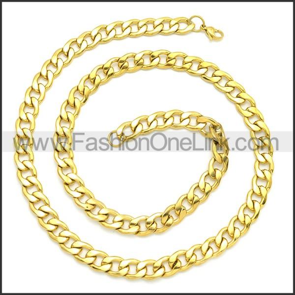 Stainless Steel Chain Neckalce n003085GW4