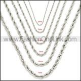 Stainless Steel Chain Neckalce n003086SW4