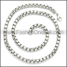 Stainless Steel Chain Neckalce n003089SW3