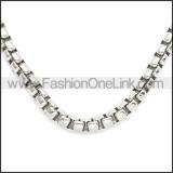 Stainless Steel Chain Neckalce n003083SW4