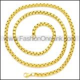 Stainless Steel Chain Neckalce n003083GW2
