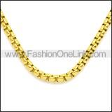 Stainless Steel Chain Neckalce n003088GW5