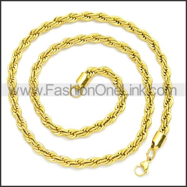 Stainless Steel Chain Neckalce n003086GW3
