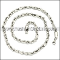 Stainless Steel Chain Neckalce n003086SW2