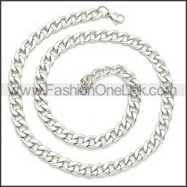 Stainless Steel Chain Neckalce n003091SW4