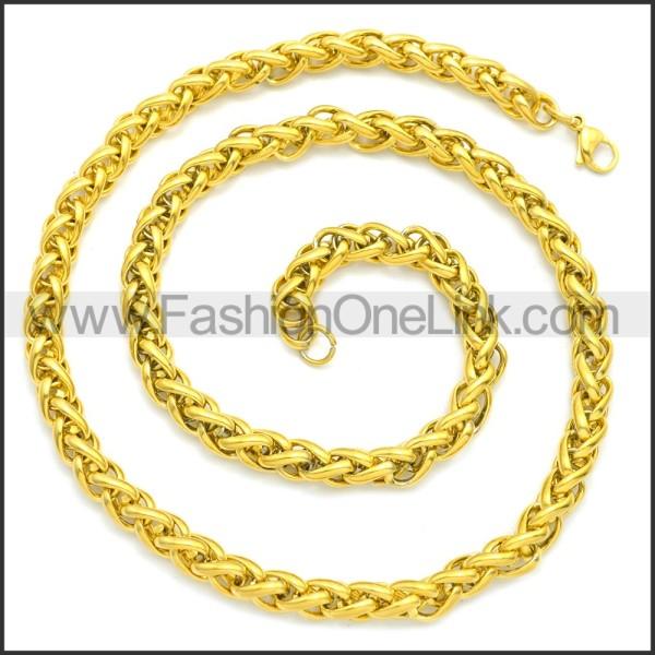 Stainless Steel Chain Neckalce n003095GW3