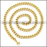 Stainless Steel Chain Neckalce n003114G
