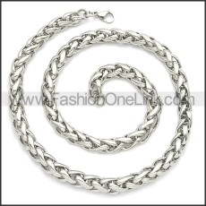 Stainless Steel Chain Neckalce n003094SW4