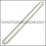 Stainless Steel Chain Neckalce n003095SW4