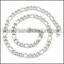 Stainless Steel Chain Neckalce n003093SW10