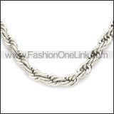 Stainless Steel Chain Neckalce n003097SW2